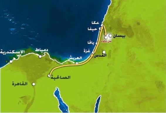 Tentera Islam Berkumpul di Solehiah dan Bergerak ke Palestin