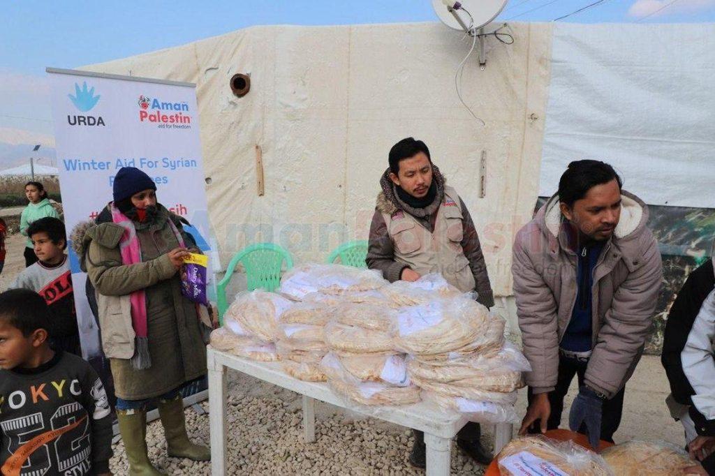 Aman Palestin agih 14,000 roti di enam kem pelarian Syria