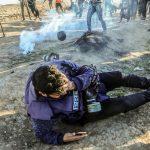 Jurugambar Palestin buta angkara Israel